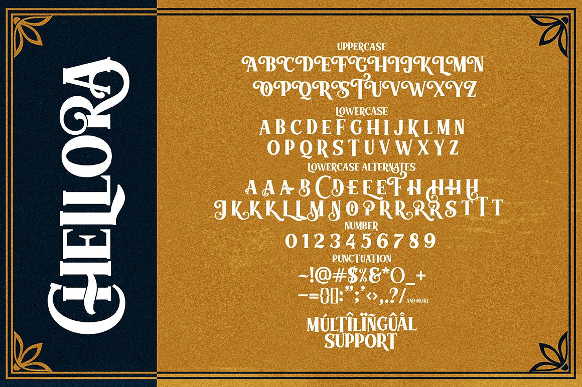 Chellora Typeface example image 9