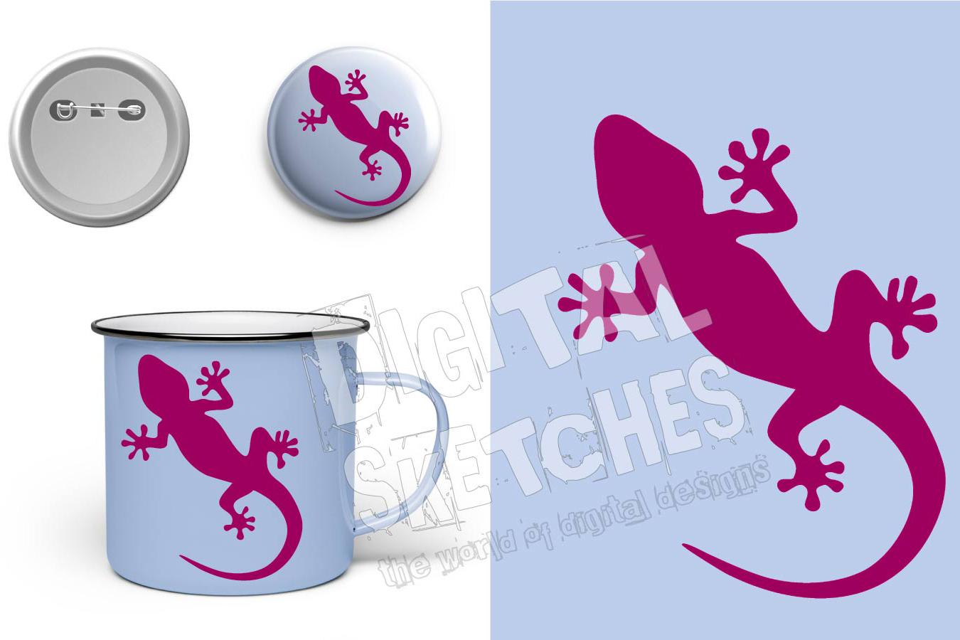 Gecko Cut File, Lizard Cut File, Salamander SVG, Vector example image 2