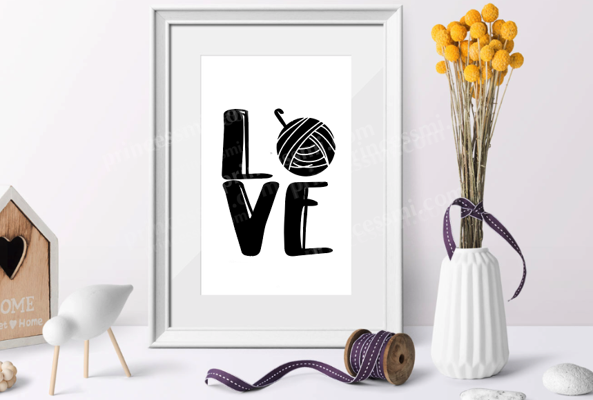 Love knitting and crochet set / svg, eps, png file example image 3