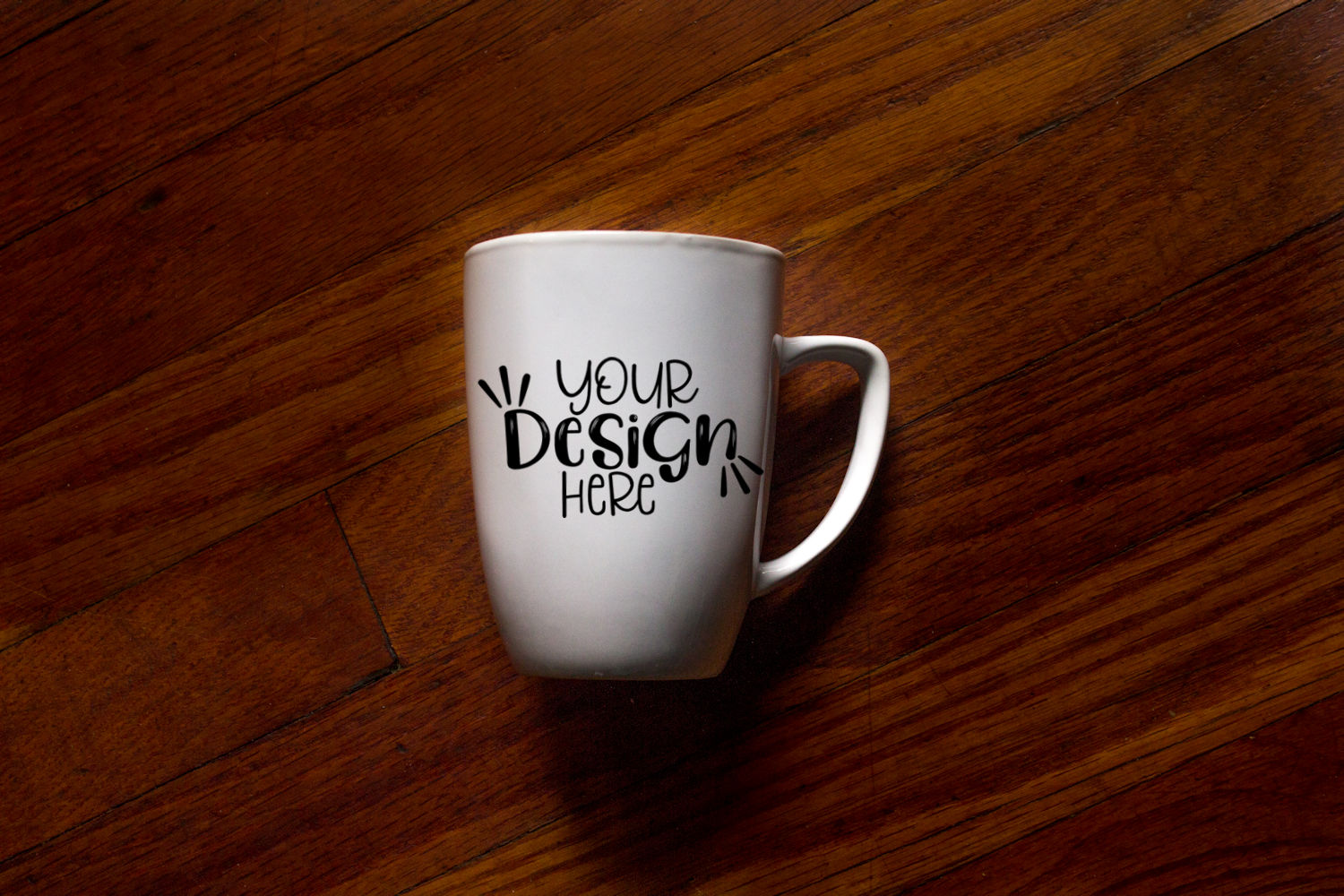 Plain white mug mockup, coffee mug mockup example image 1