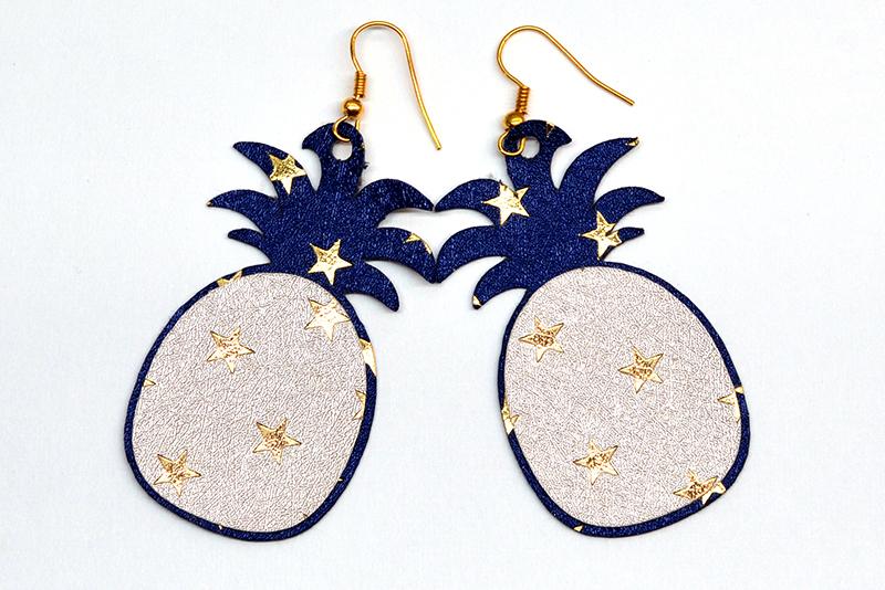 Pineapple earrings template SVG, DIY earrings template example image 2
