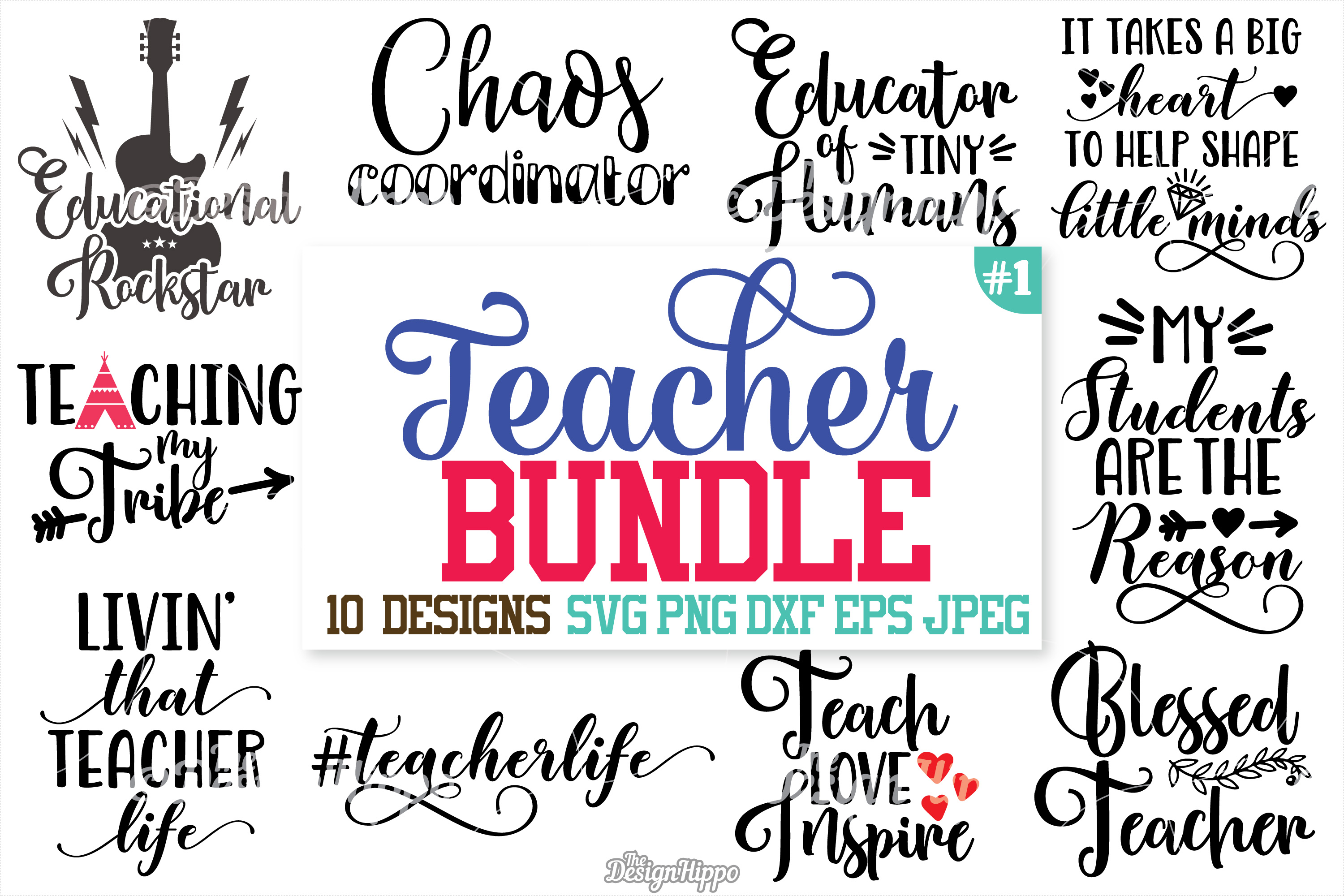 Teacher, SVG, Teacher SVG Bundle, Teacher Bundle, Cut files example image 1