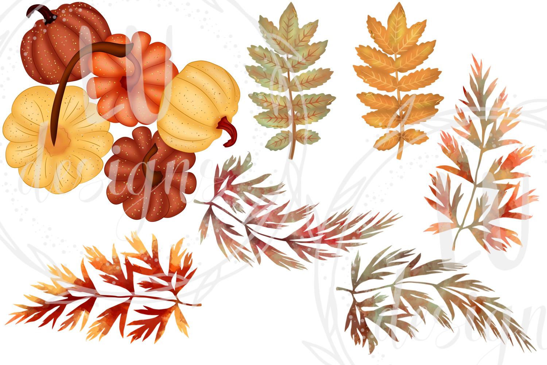 Fall Clipart, Autumn Graphics, Harvest Pumpkins Clipart example image 6