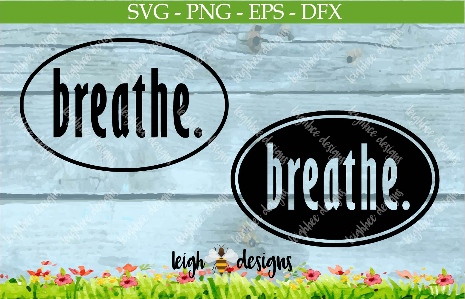 Breath Oval SVG/DFX/PNG/EPS File  example image 1
