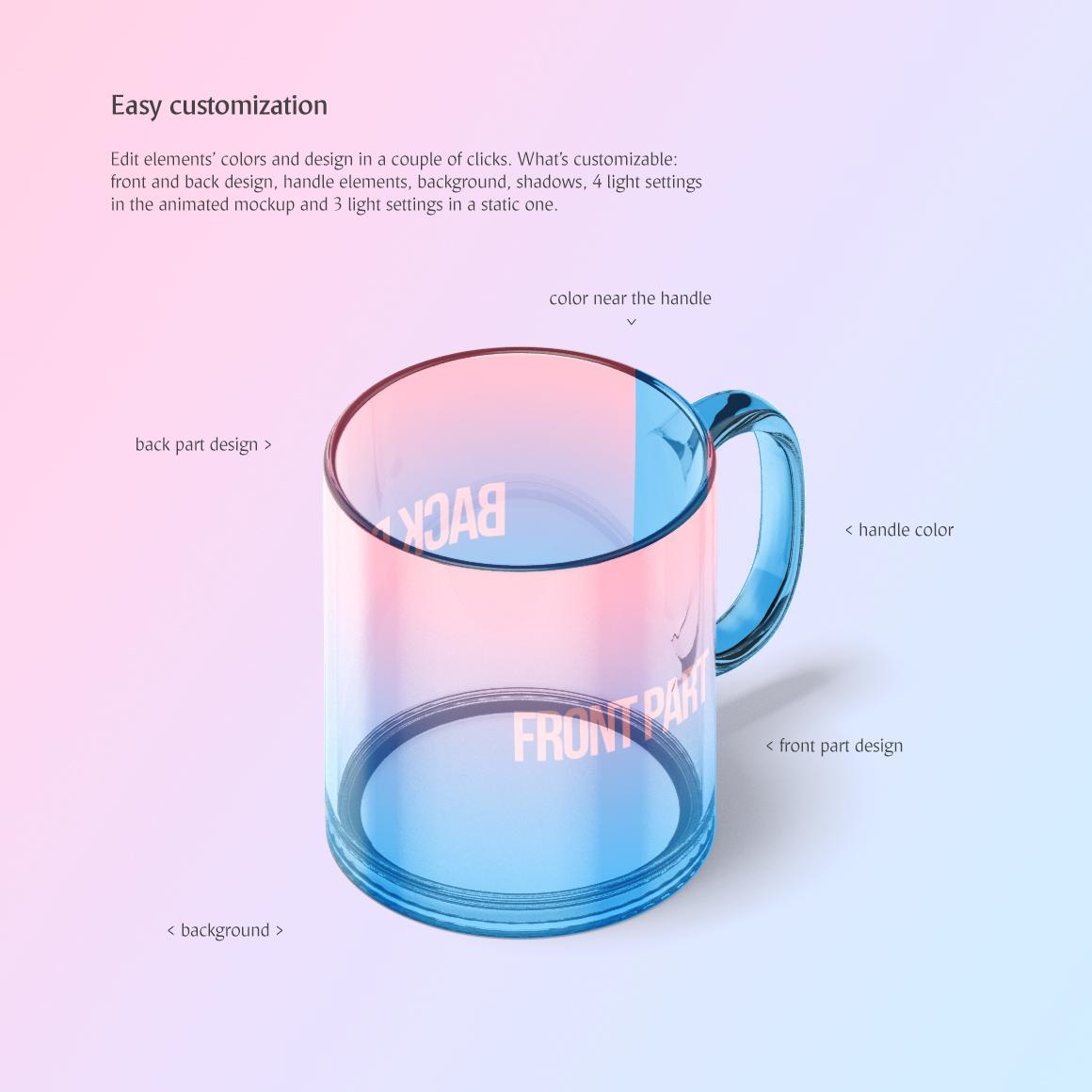 New Glass Mug Animated Mockup example image 4