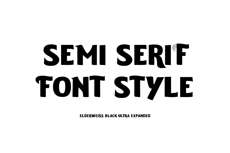 Elderweiss - An Experimental Sans Serif example image 4