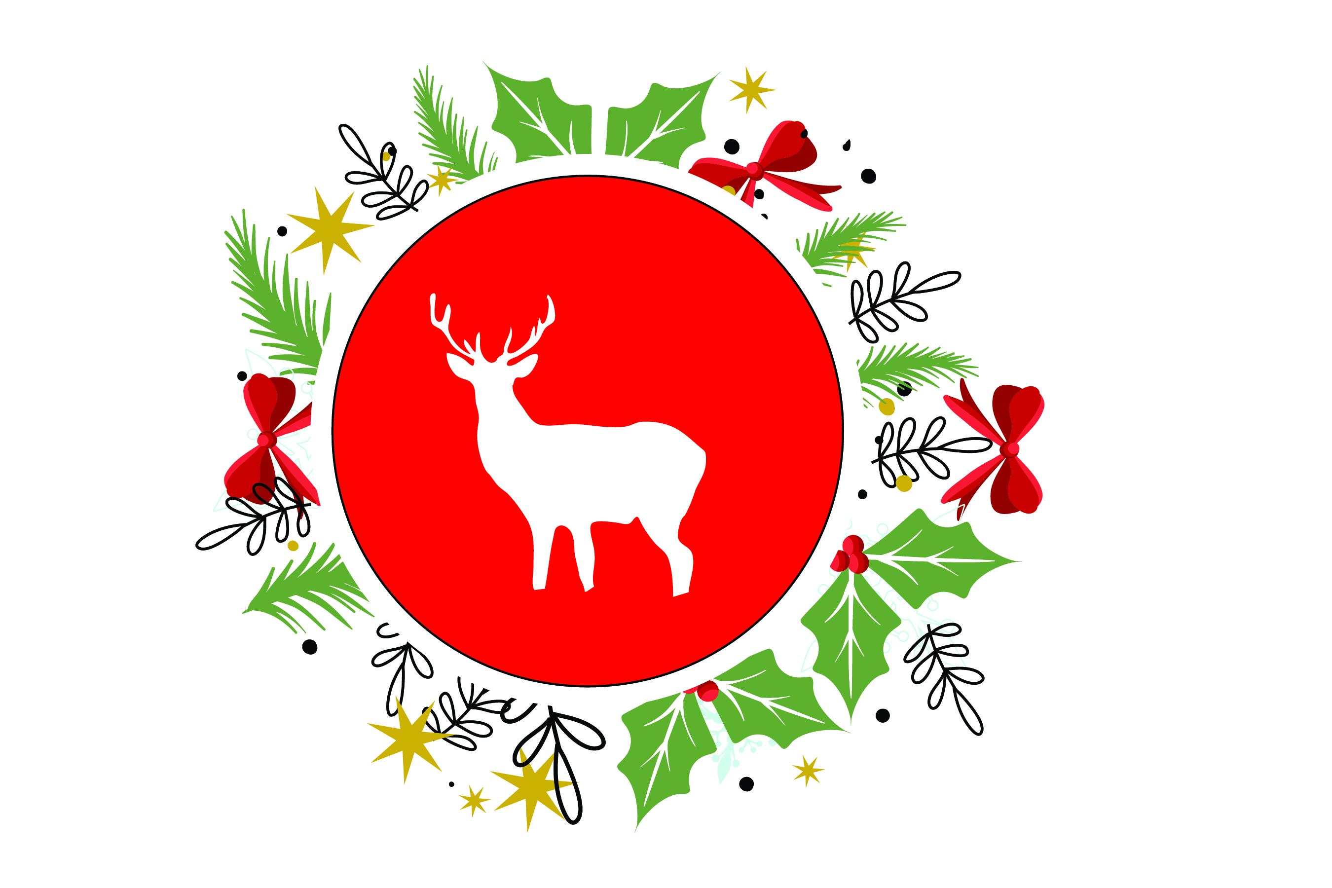 Merry Christmas-SVG Cut File-Coffee Mug Design-Greeting Card example image 6