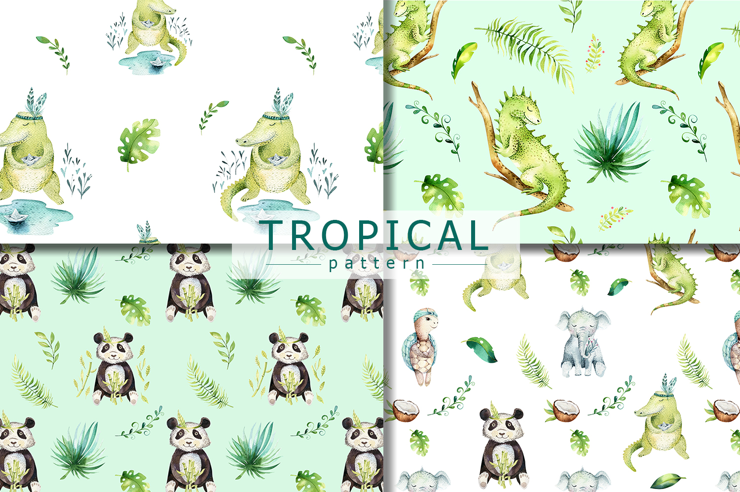 Friends party. Tropical collection example image 3