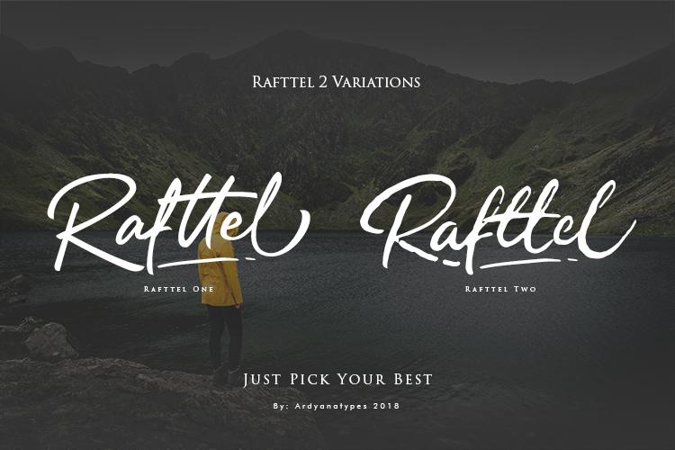 Rafttel Script Font example image 2