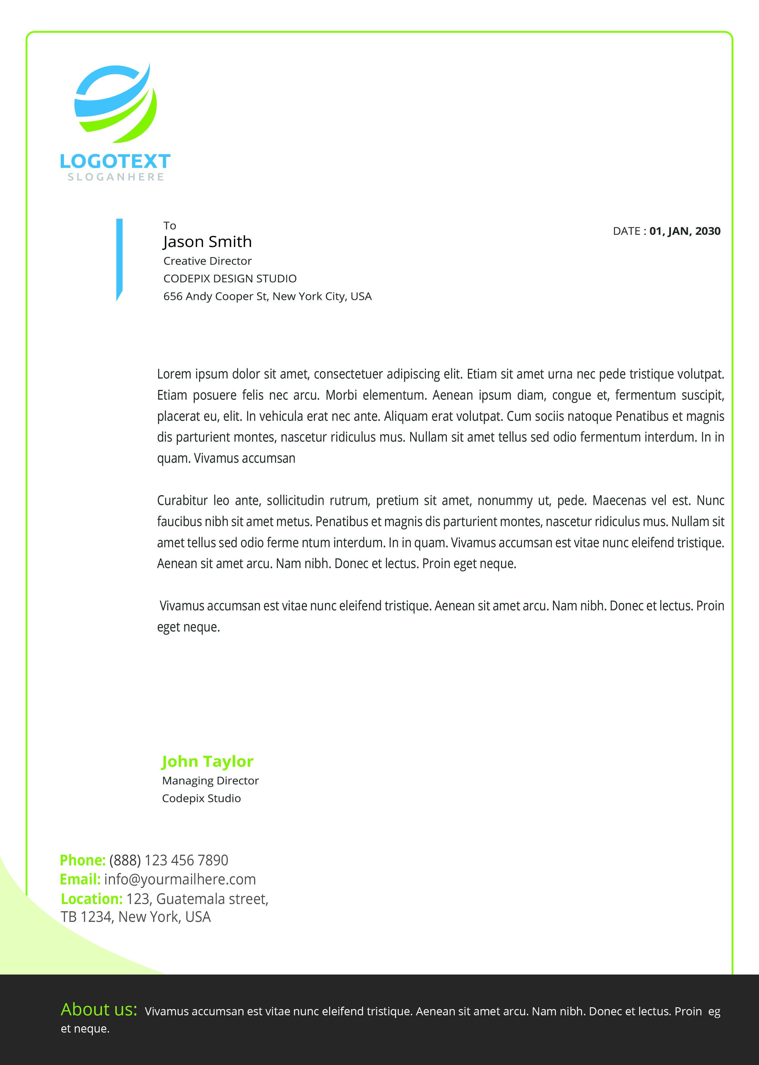 Letterhead example image 1
