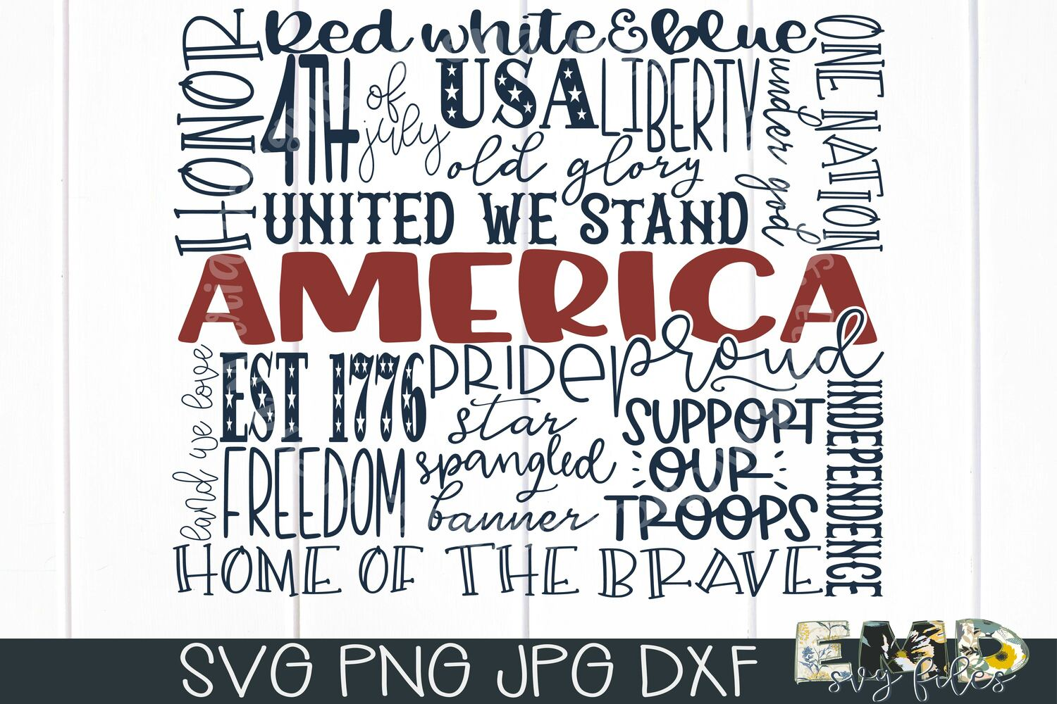 4th of July Svg | Independence Day Svg Jpg Png Dxf example image 2