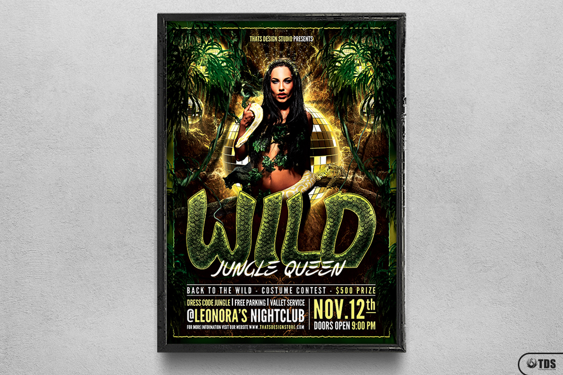 Wild Party Flyer Template example image 6