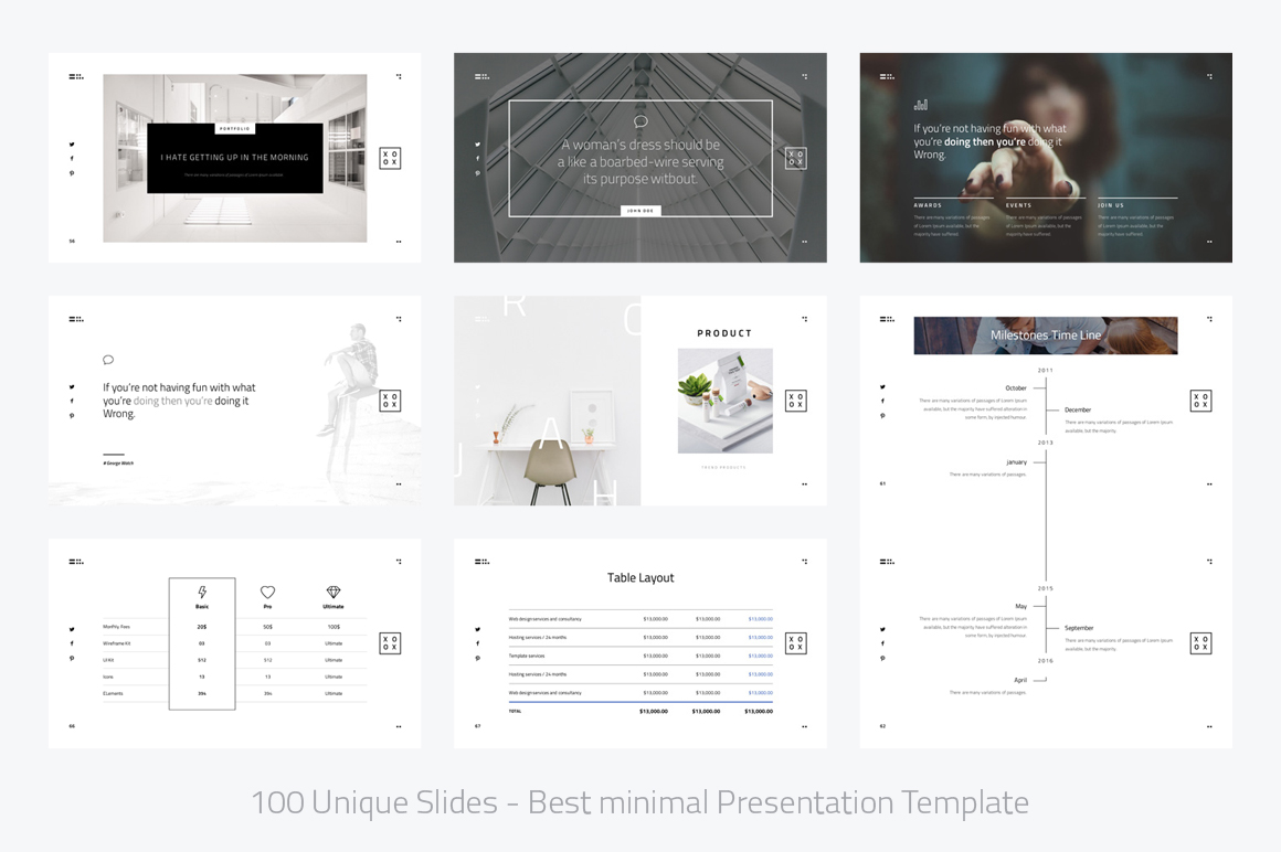 XOXO-Minimal Powerpoint Template example image 8