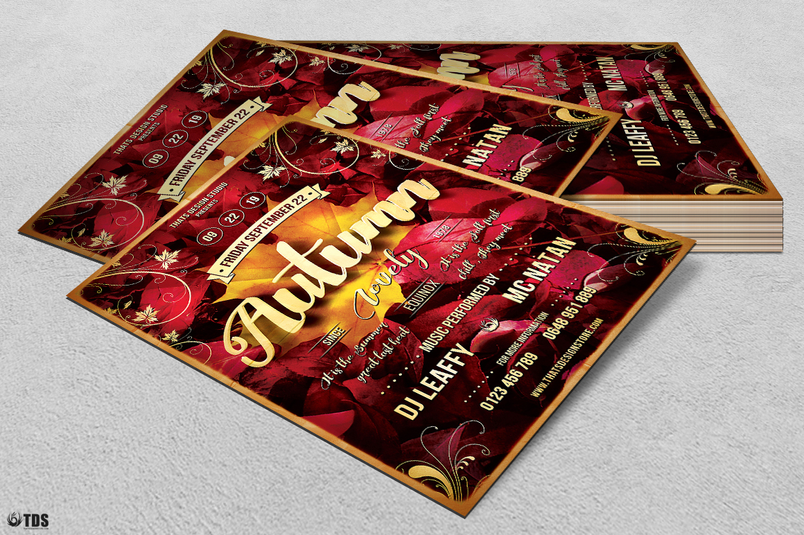 Autumn Equinox Flyer Template V1 example image 4