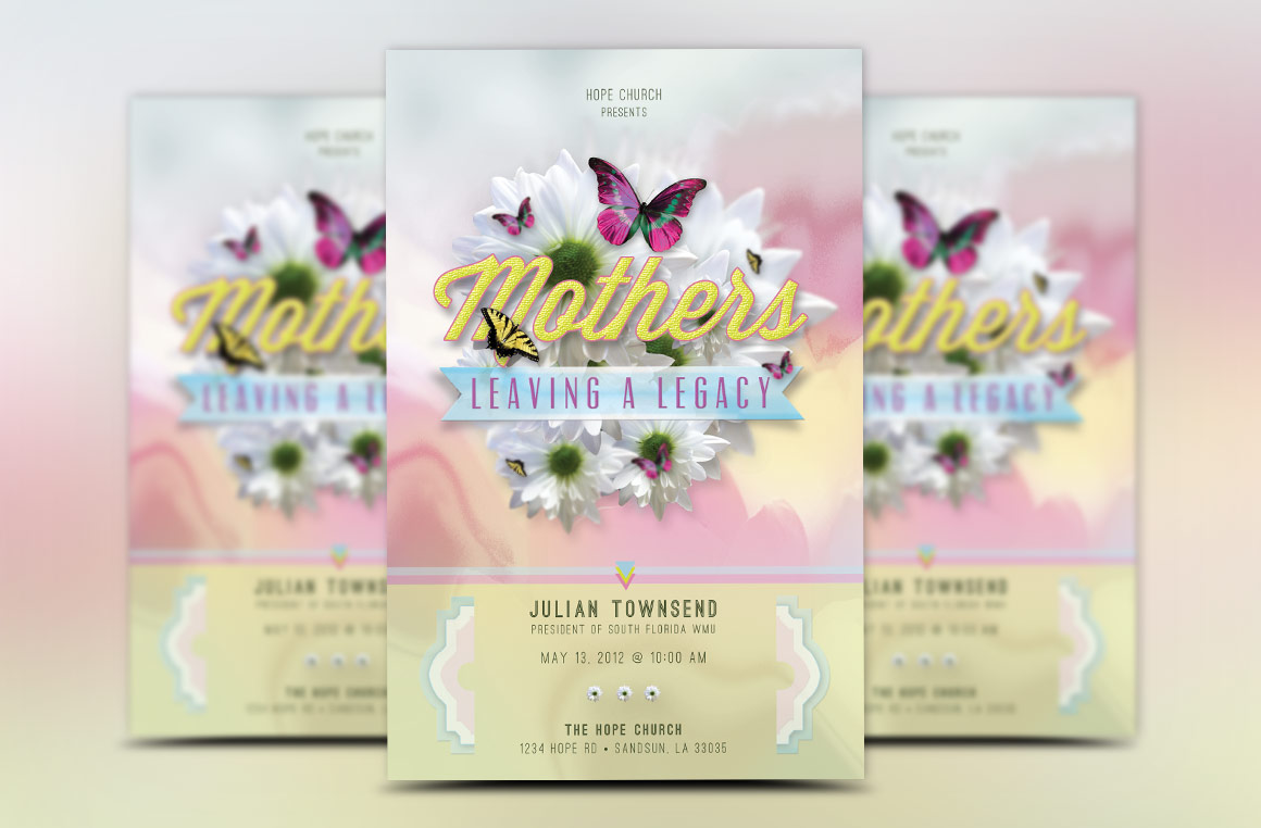 Mothers Legacy Church Flyer Template example image 2