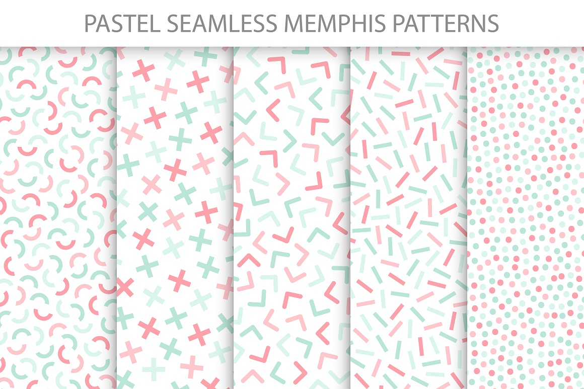Colorful delicate seamless patterns example image 5