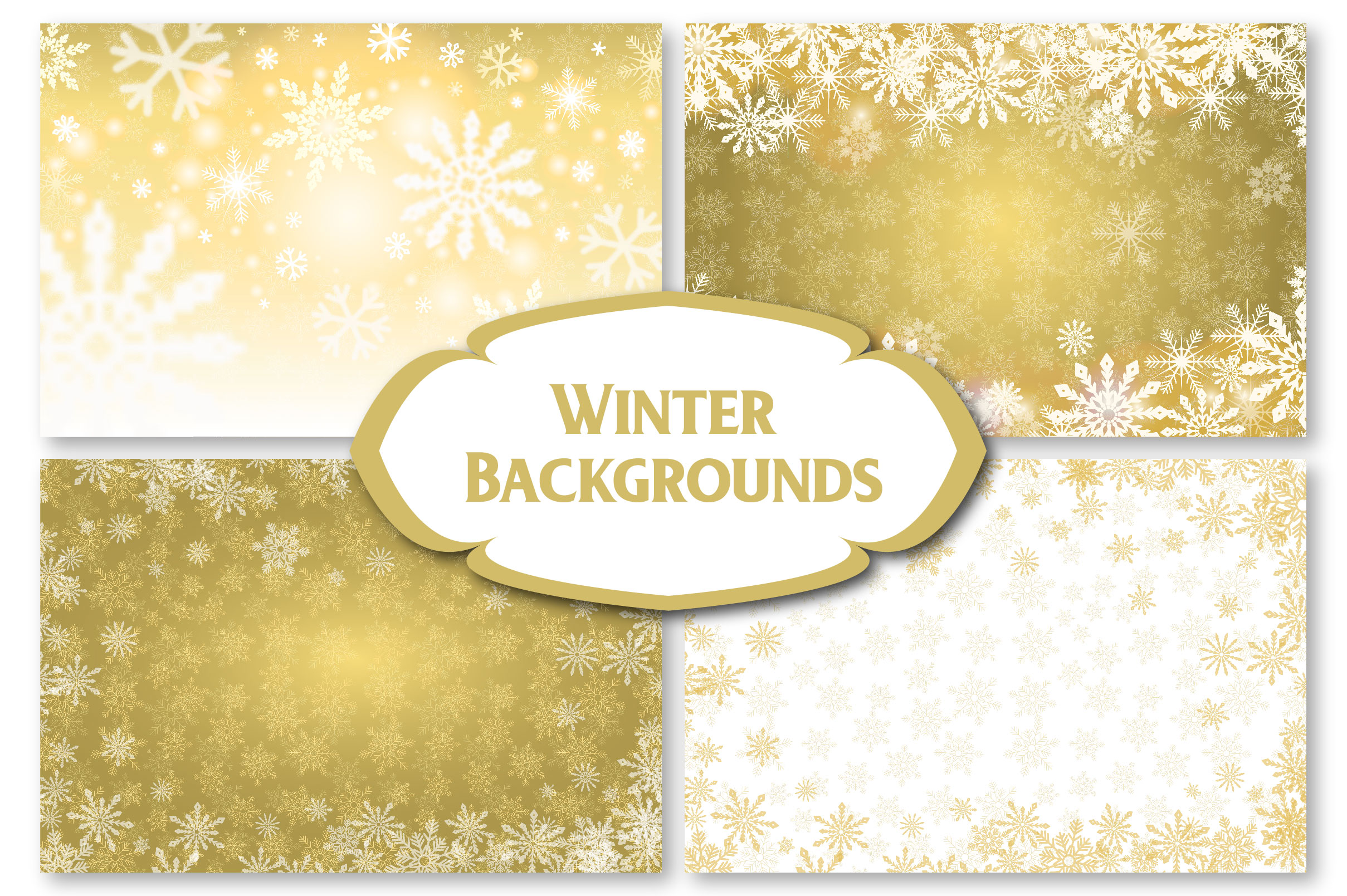 Winter Golden Backgrounds example image 6