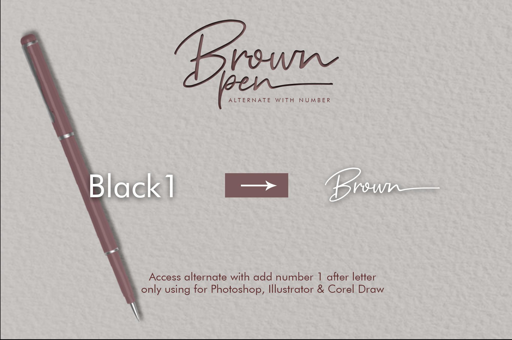 Brown Pen Script example image 5
