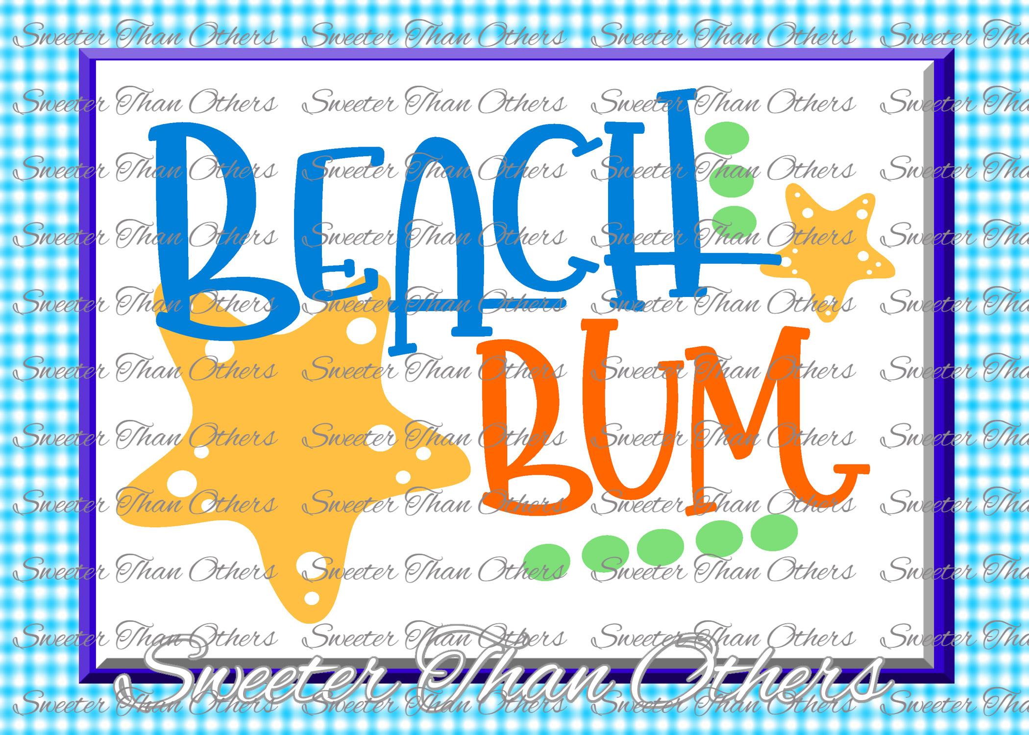 Beach Svg Beach bum svg, Beach pattern, Summer Dxf example image 1