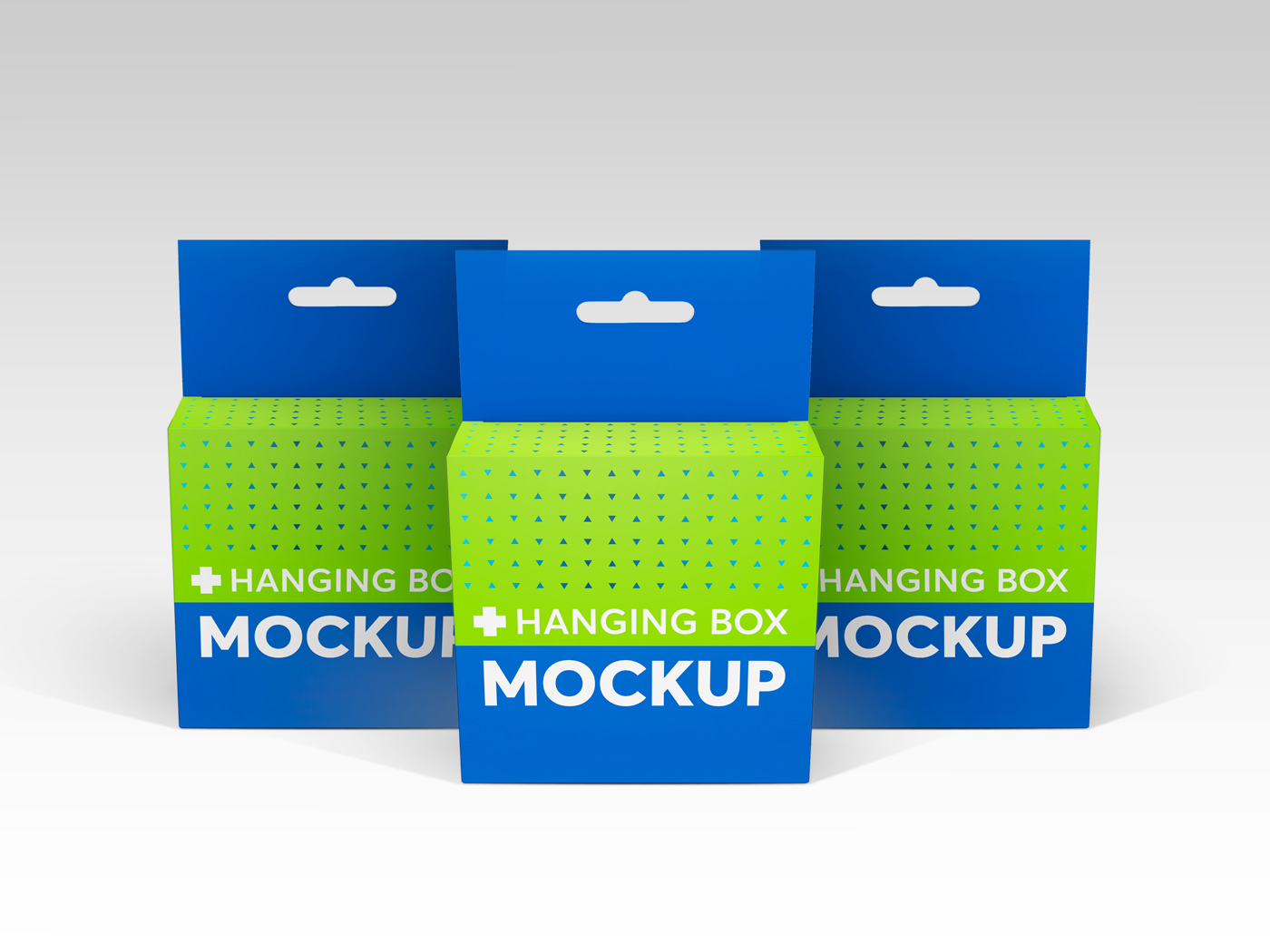 Flat Square Box with Hanger Mockup example image 12