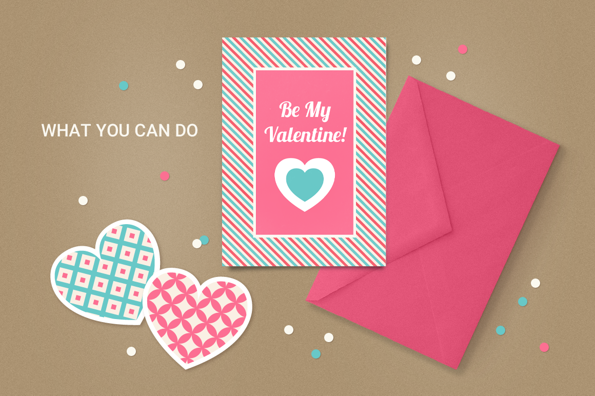 Valentine Seamless Patterns - Set 1 example image 4