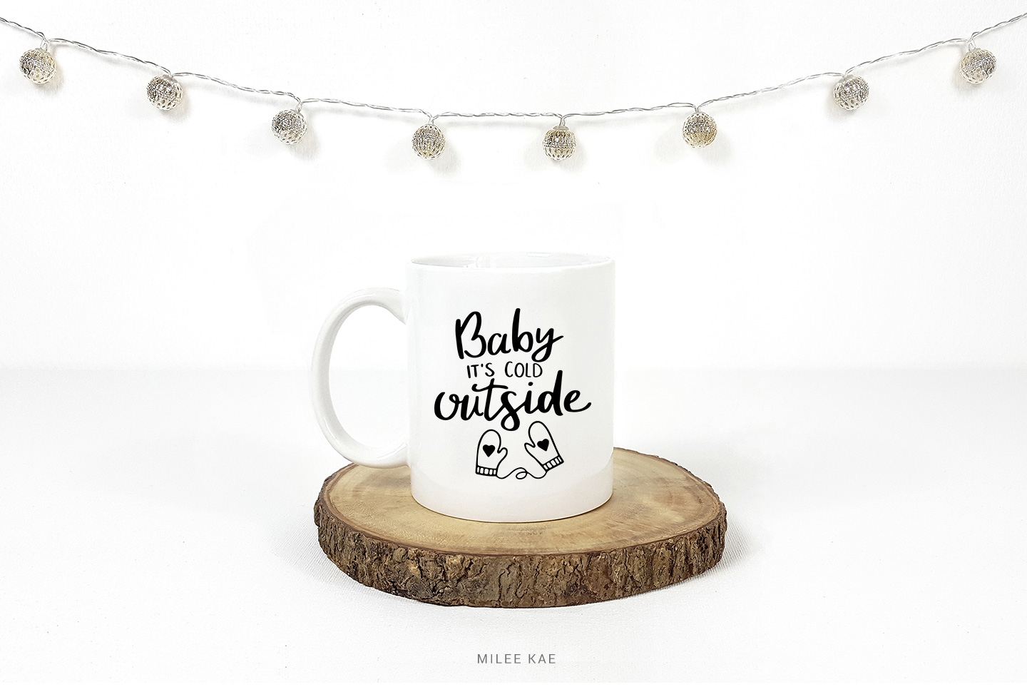 Baby it's cold outside, Cutting file, SVG, Decal example image 2