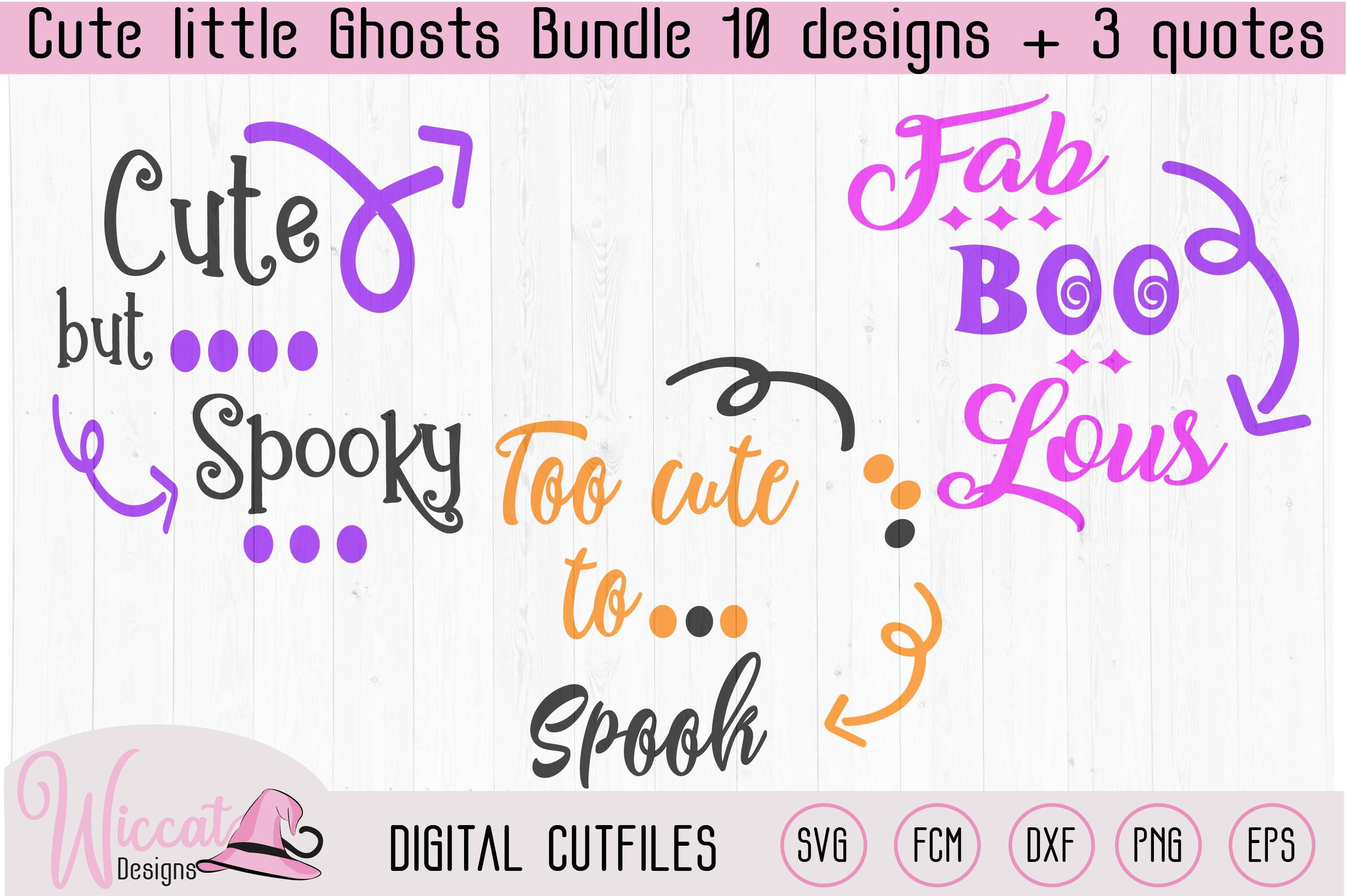 Cute little ghost bundle, scanncut, cricut, vinyl craft example image 4