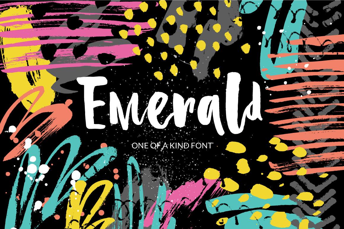 Emerald - playful brush font example image 1