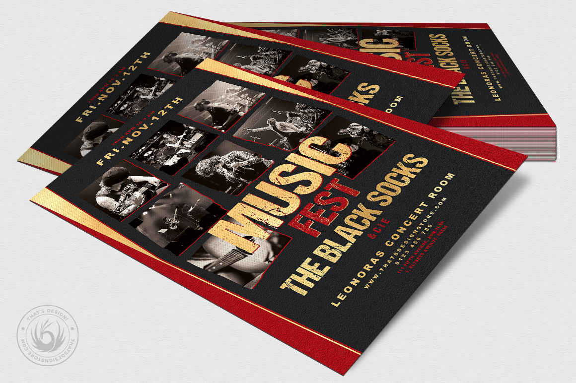Music Festival Flyer Template V9 example image 4