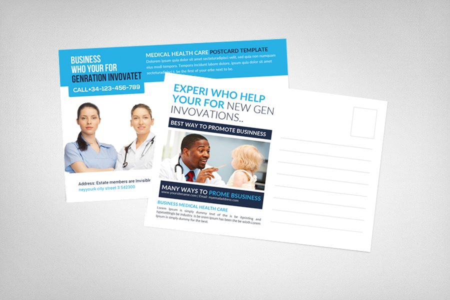 Medical Health Care Business Postcard example image 2