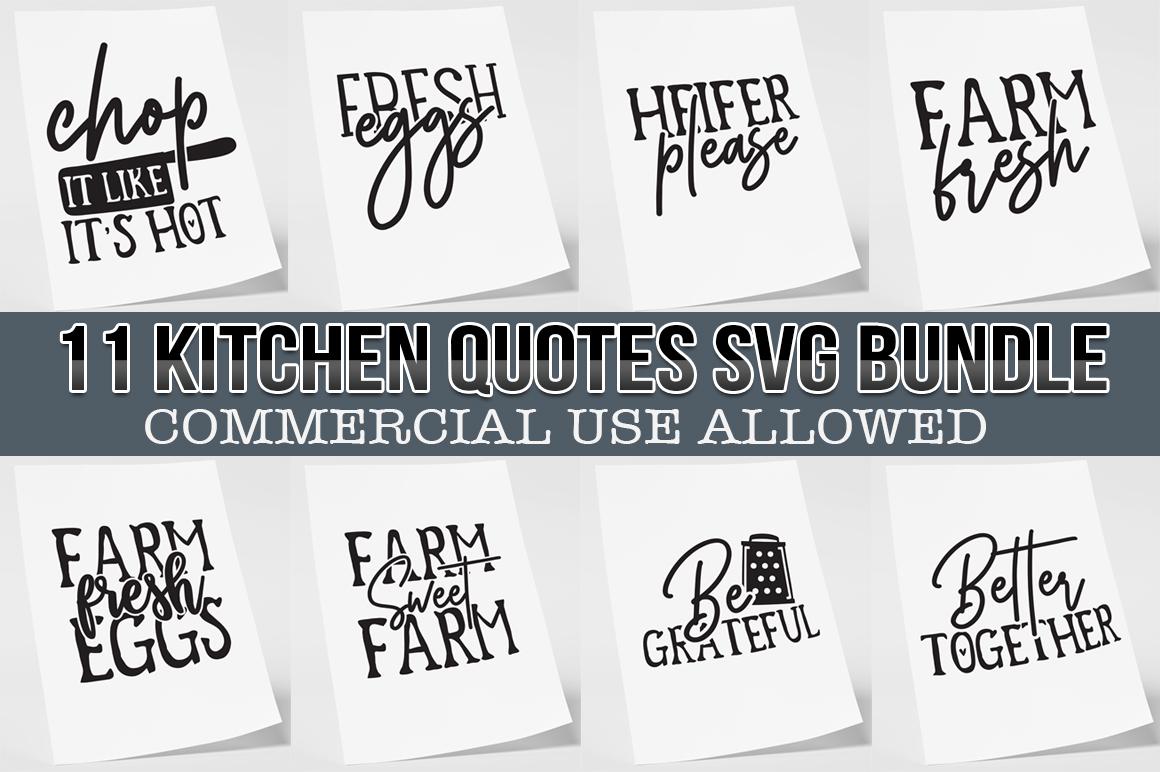 Kitchen Quotes svg bundle 11 Designs example image 1