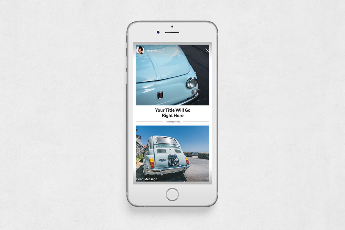Classic Cars Animated Instagram Stories example image 6