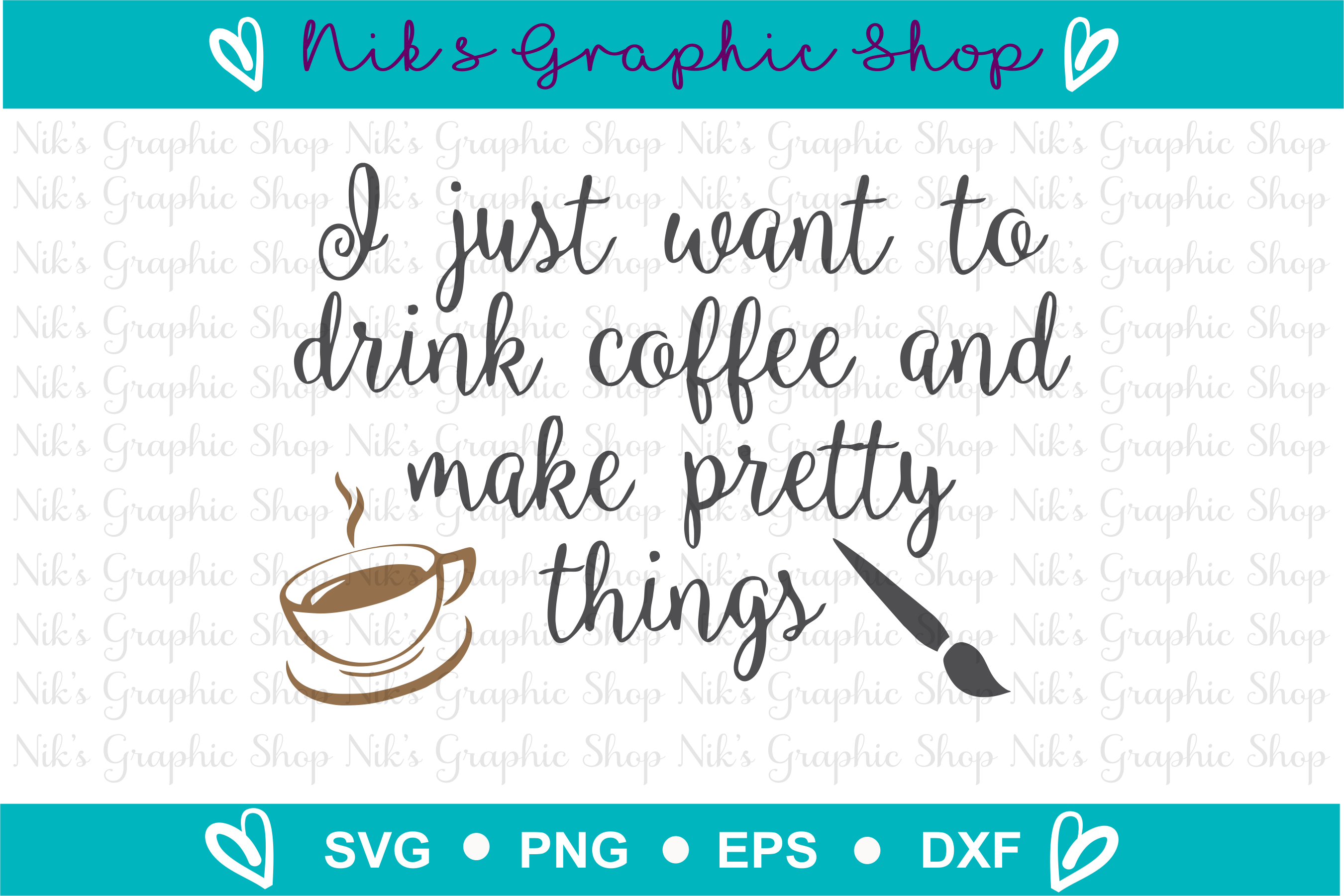 Coffee Svg, Pretty Things Svg, Coffee Cut Files, Drink Svg example image 2