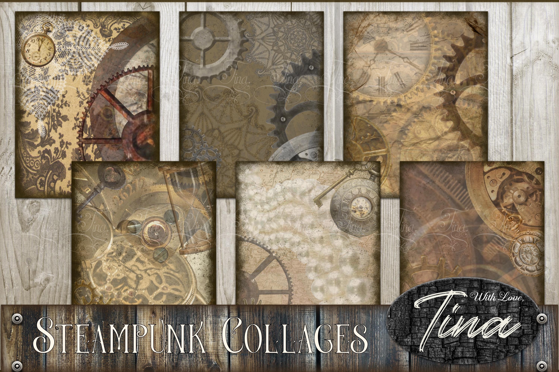 STEAMPUNK PRESTIGE Collage Scrapbook Artwork 091618SP1 example image 1