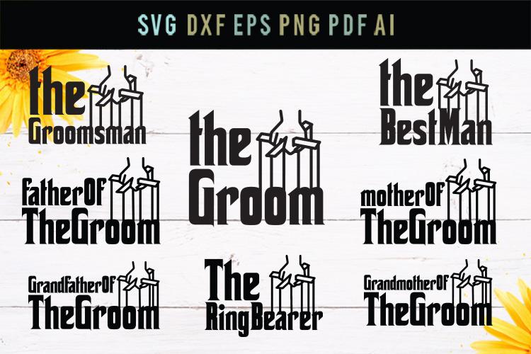 The groom, best man, groomsman,wedding svg, cut file,dxf,eps example image 1