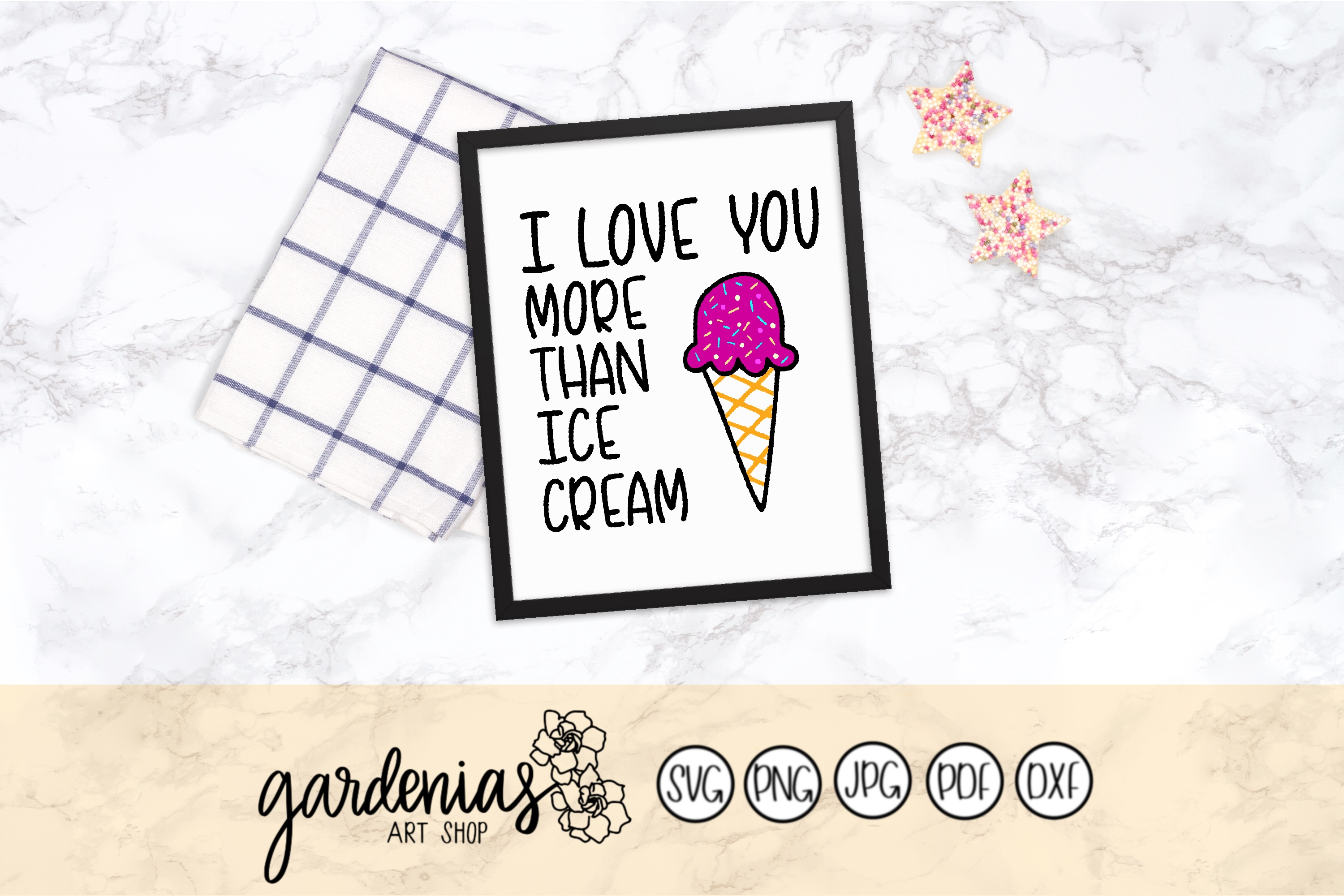 I Love You More Than Ice Cream SVG Cut Files example image 1