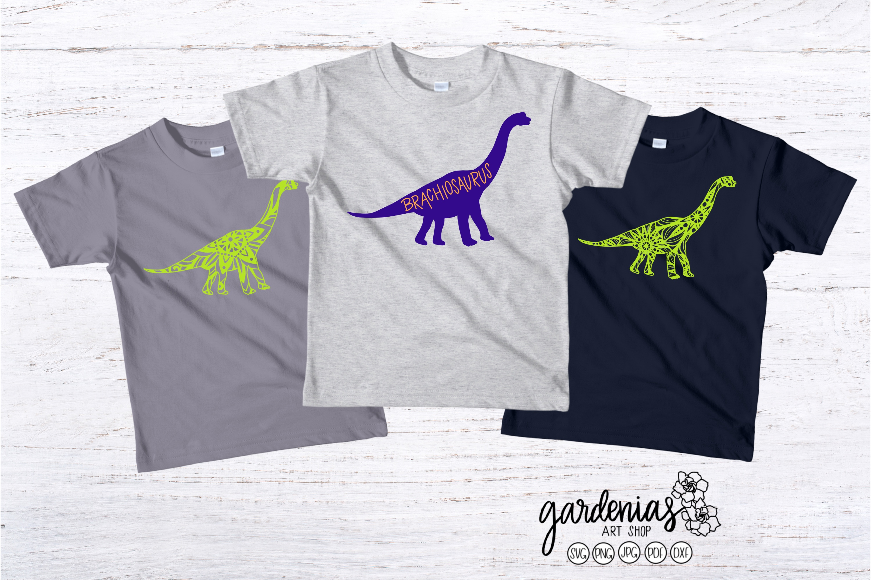 Brachiosaurus SVG | Dinosaur Mandala | Mini Bundle | ClipArt example image 2