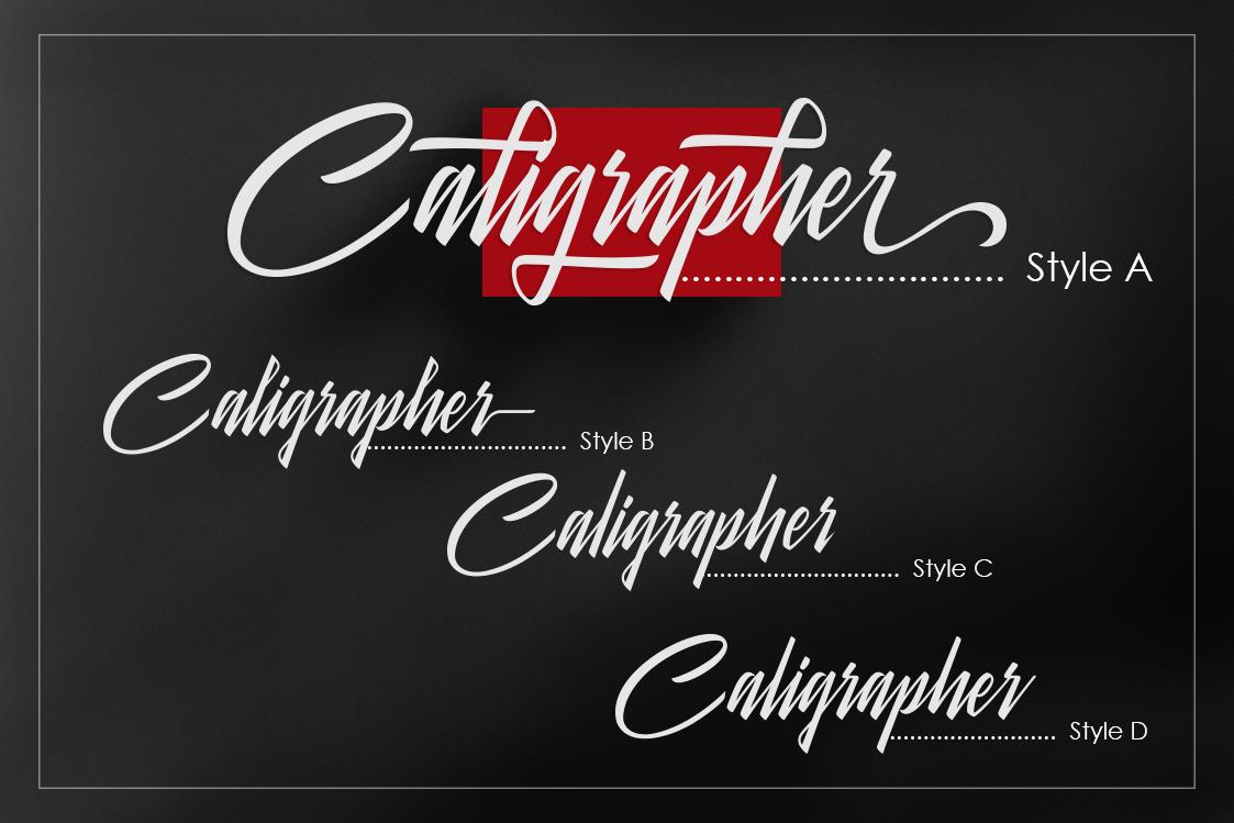Galteiday Font Script example image 2