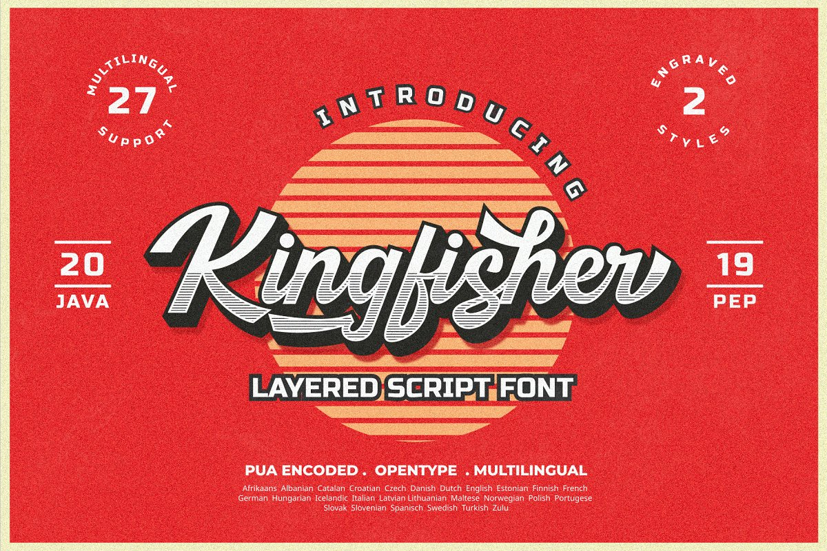 Kingfisher Layered Font example image 1