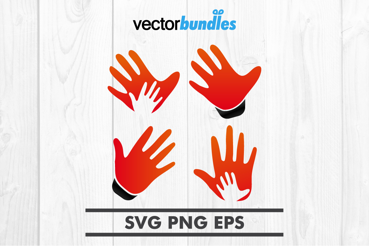 Palm hand clip art svg example image 1