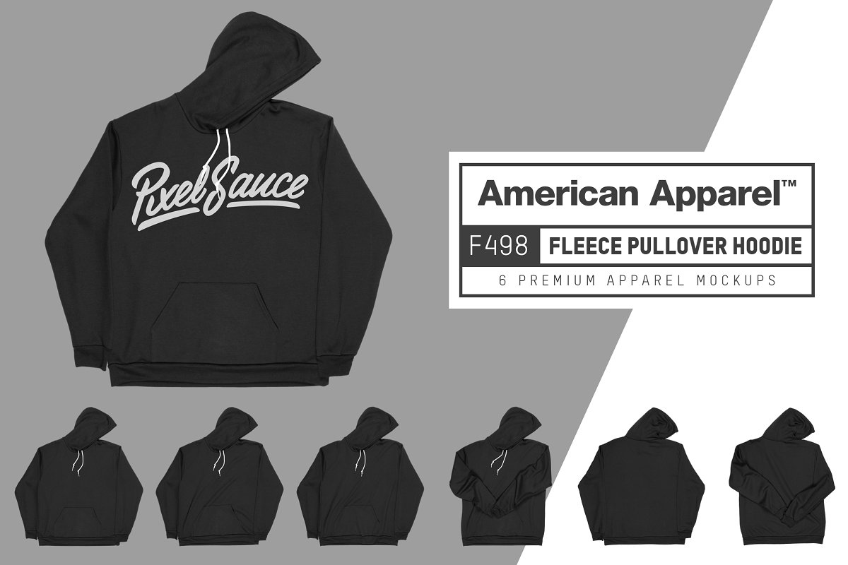 American Apparel F498 Pullover Hoody example image 1