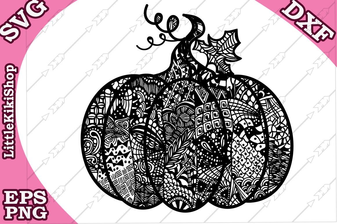 Zentangle Pumpkin, Pumpkin Svg, MANDALA PUMPKIN SVG, Thanksg example image 2