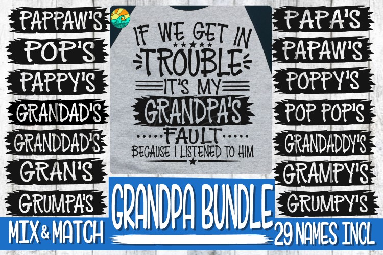 Trouble - It's My Grandpa's Fault -BUNDLE - 29 Names Incl example image 1