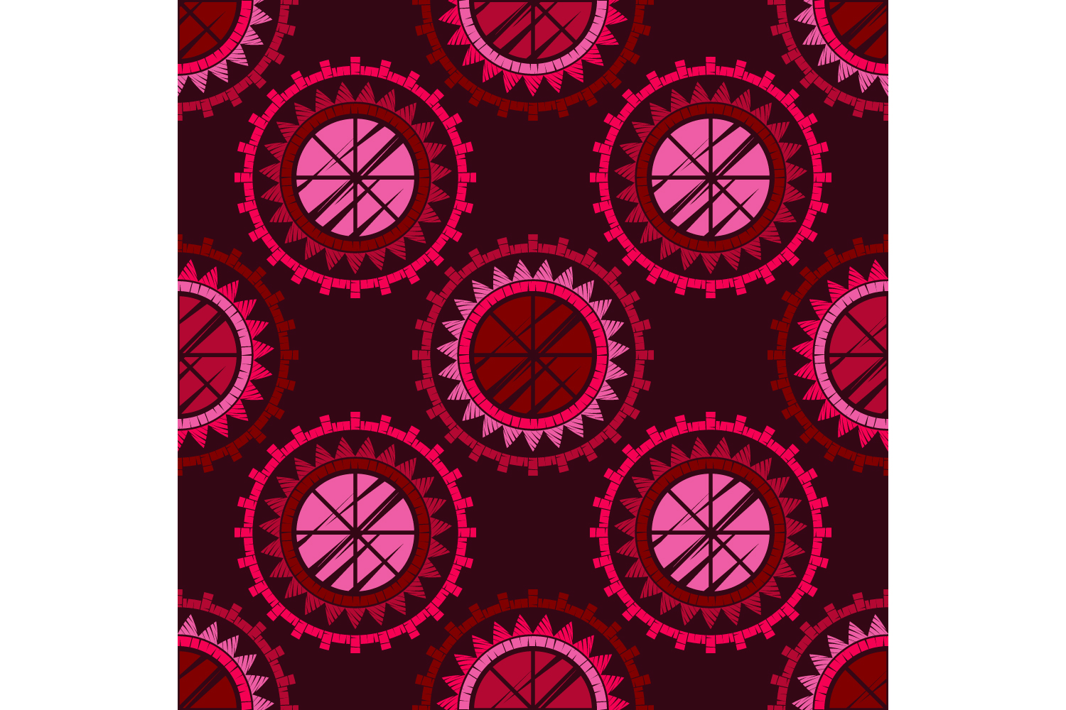 Polka dot ethnic ornament. Set of 10 seamless patterns. example image 2