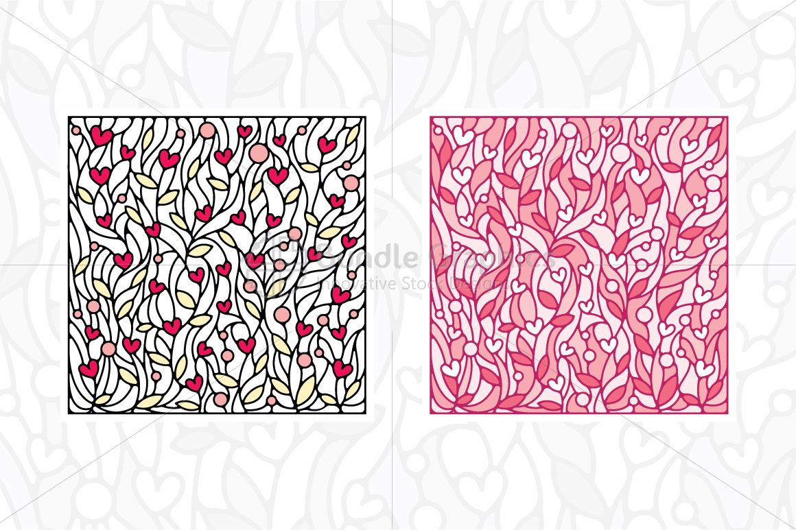 Nature and Heart Colorful Vector Background example image 2