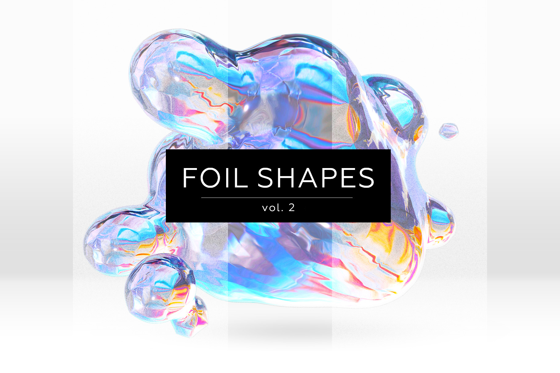 Foil shapes - abstract designs example image 1