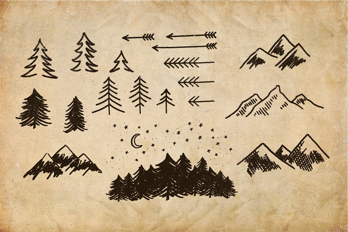 Adventure Lettering Illustrations example image 3