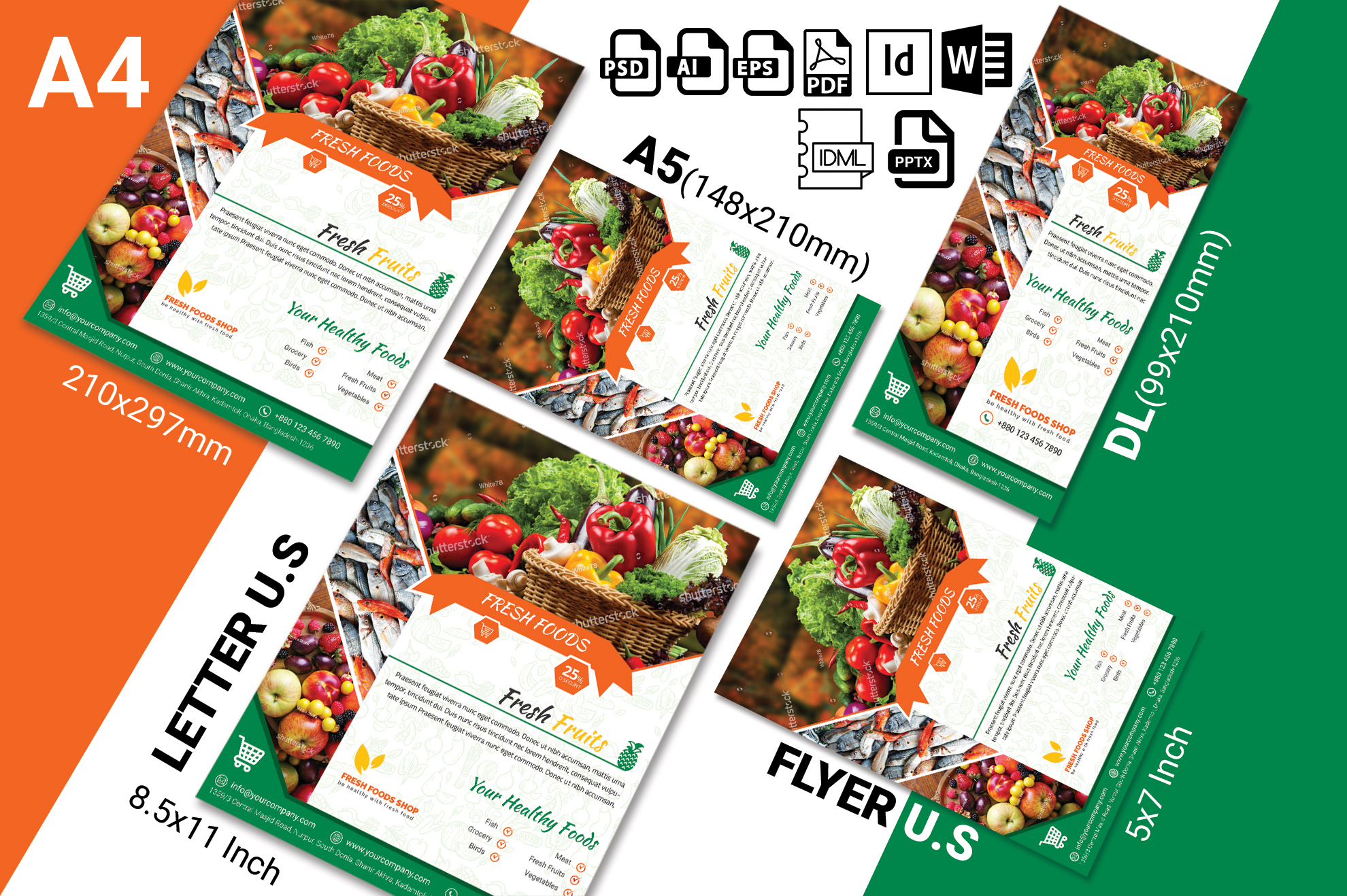 Fresh Food Grocery Shop Flyer Vol-03 example image 2