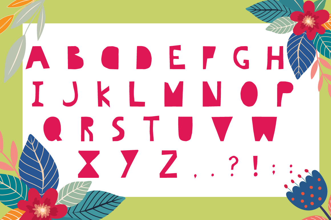 Hello Summer Cutout Font example image 4