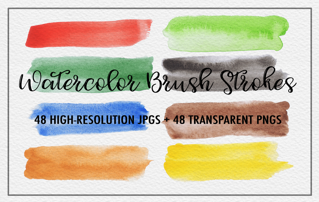 Watercolor Brush Strokes example image 3